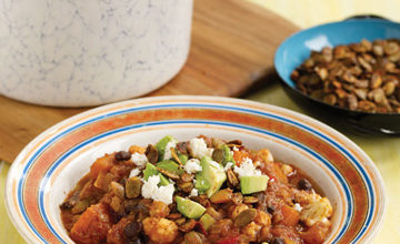 Photo of Vegetarian Chili with Chili-Spiced Pumpkin Seeds