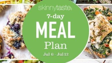 Photo of 7 Day Healthy Meal Plan (July 6-July 12)