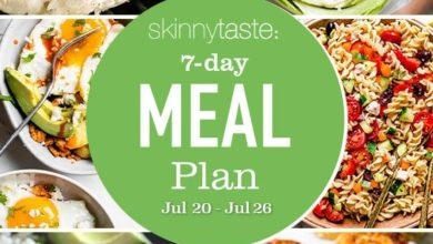 Photo of 7 Day Healthy Meal Plan (July 20-26)
