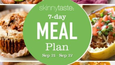 Photo of 7 Day Healthy Meal Plan (Sept 21-27)
