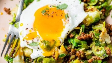 Photo of Spicy Pork Brussels Bowls (Low Carb)