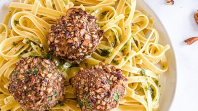 Photo of Baked Chicken Pecan Meatballs Recipe (Gluten-Fee, Dairy-Free, Paleo)