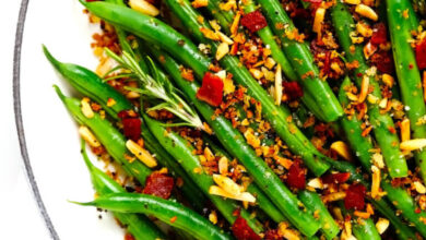 Photo of Green Beans with Bacon Breadcrumbs