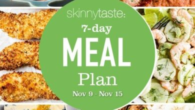 Photo of 7 Day Healthy Meal Plan (Nov 9-15)