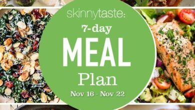 Photo of 7 Day Healthy Meal Plan (Nov 16-22)
