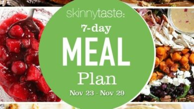 Photo of 7 Day Healthy Meal Plan (Nov 23-29)