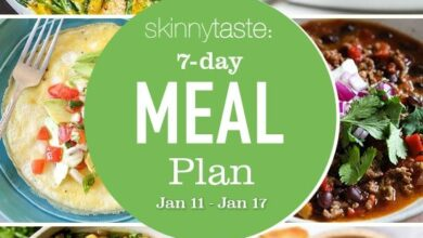 Photo of 7 Day Healthy Meal Plan (Jan 11-17)