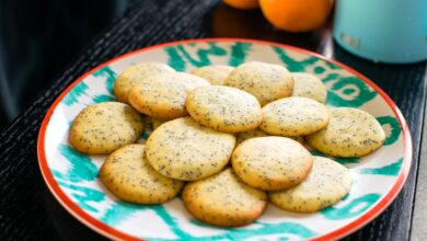 Photo of Vanilla Poppy Seed Tea Cookies Recipe (Naturally Dairy-Free)