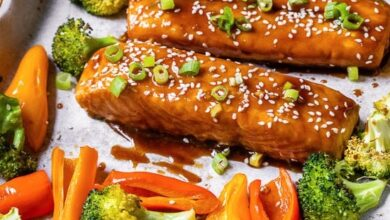 Photo of Sheet Pan Teriyaki Salmon and Vegetables