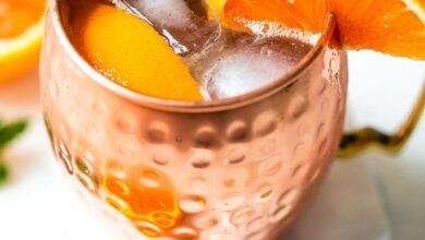 Photo of Orange Moscow Mule Mocktail (Alcohol Free)