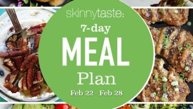 Photo of 7 Day Healthy Meal Plan (Feb 22-28)