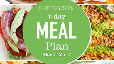 Photo of 7 Day Healthy Meal Plan (March 1-7)