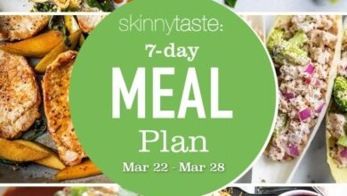 Photo of 7 Day Healthy Meal Plan (March 29-April 4)