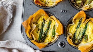 Photo of Asparagus and Feta Tartlet with Phyllo Crust