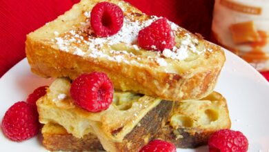 Photo of Easy Baked Dairy-Free French Toast Recipe Infused with Maple Syrup