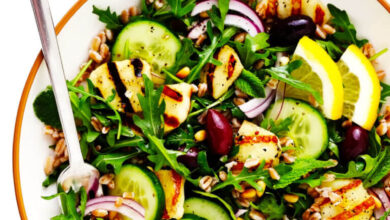Photo of Grilled Halloumi Salad | Gimme Some Oven
