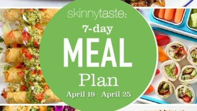 Photo of 7 Day Healthy Meal Plan (April 19-25)
