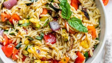 Photo of Grilled Vegetable Orzo Pasta Salad