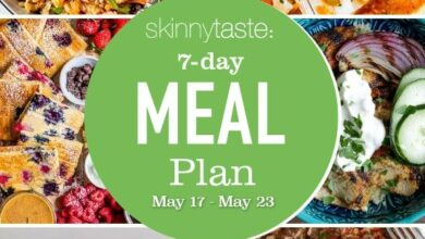 Photo of 7 Day Healthy Meal Plan (May 17-23)