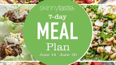 Photo of 7 Day Healthy Meal Plan (June 14-20)