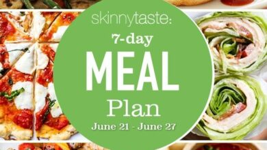 Photo of 7 Day Healthy Meal Plan (June 21-27)