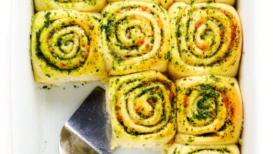 Photo of Cheesy Pesto Rolls | Gimme Some Oven